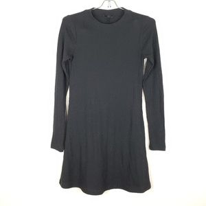 TopShop Black Crew Neck Knit Dress Size 2